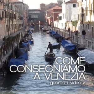 Verdura a Venezia a domicilio in barca a remi