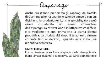Ricettario in cassetta: Asparago