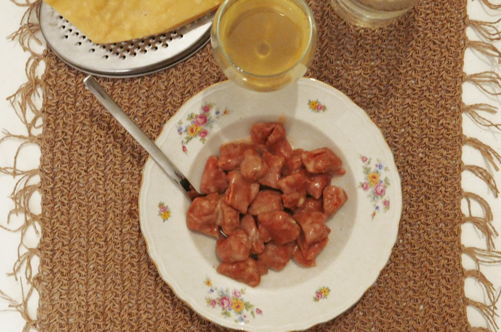gnocchi rapa rossa e patate