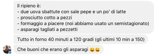 torta asparagi ricetta