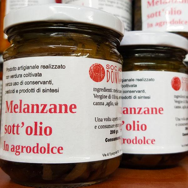 melanzane sott'olio agrodolce